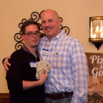 Michael Baker with $200+ in raffle earnings for Positive Impact
