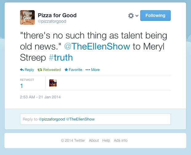 Quote about talent from Meryl Streep