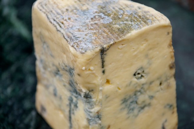 a wedge of delicious Cashel Blue cheese, offered at specialty shops and some Whole Foods locations