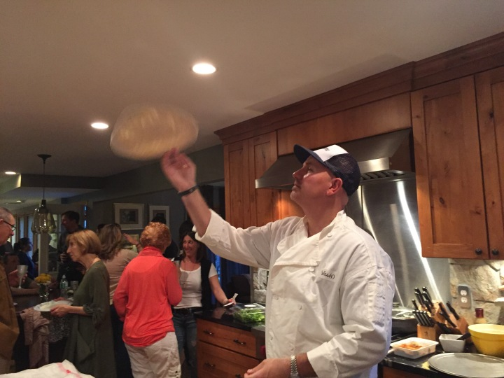 Tossing a pie-to-be in Bethel