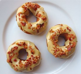 Bacon-topped doughnuts (Serious Eats)